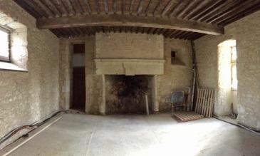 Impressive fireplace